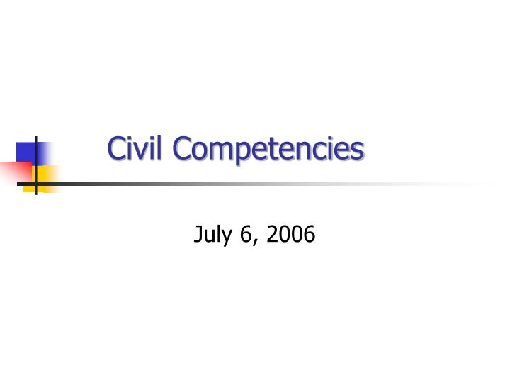 civil competencies n.