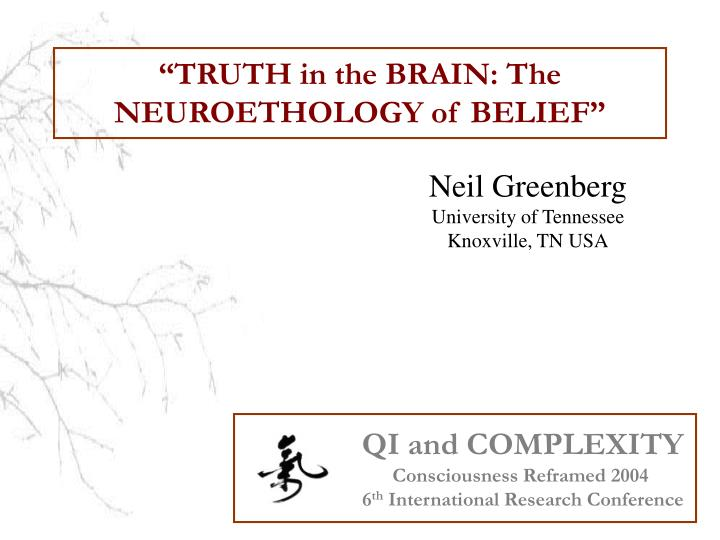 truth in the brain the neuroethology of belief n.