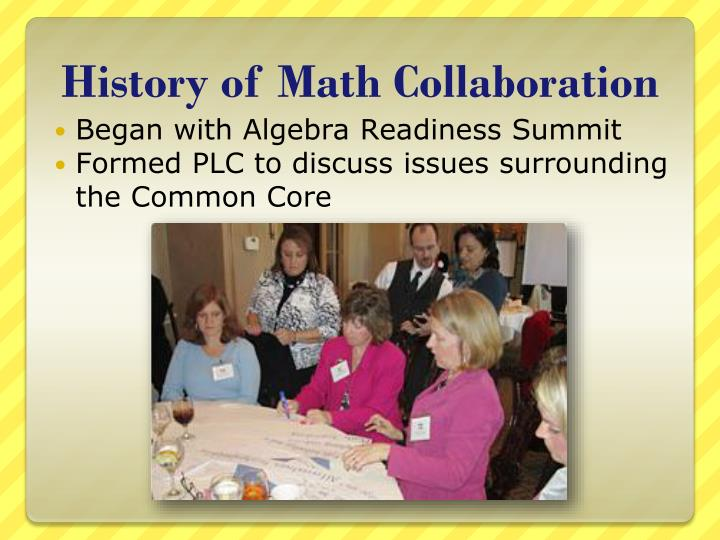 History of math collaboration