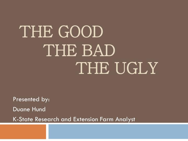the good the bad the ugly n.