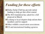 funding for these efforts