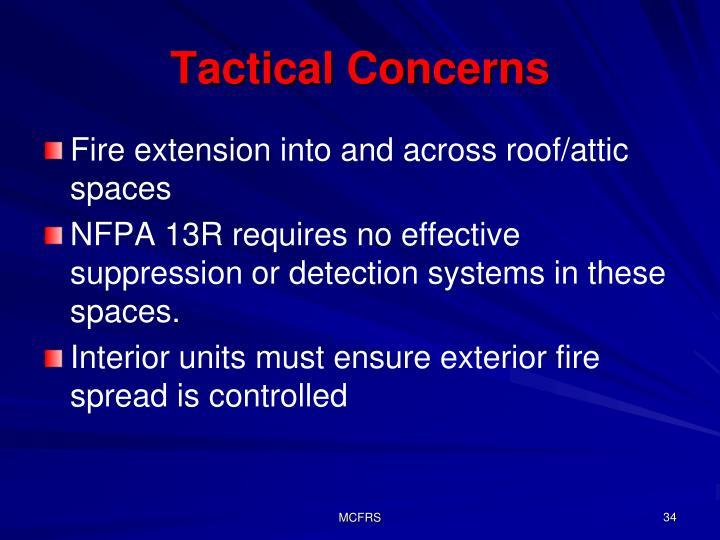 Tactical Concerns