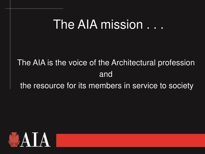 the aia mission n.
