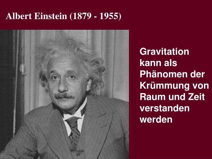 Albert Einstein (1879 - 1955)
