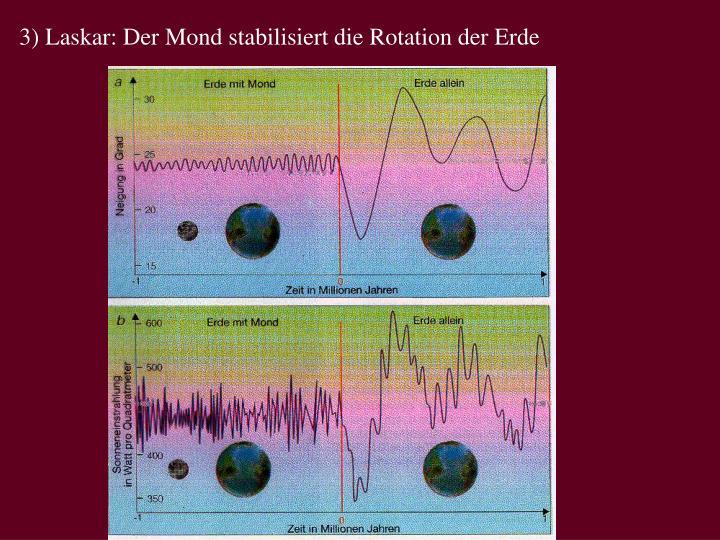 3) Laskar: Der Mond stabilisiert die Rotation der Erde
