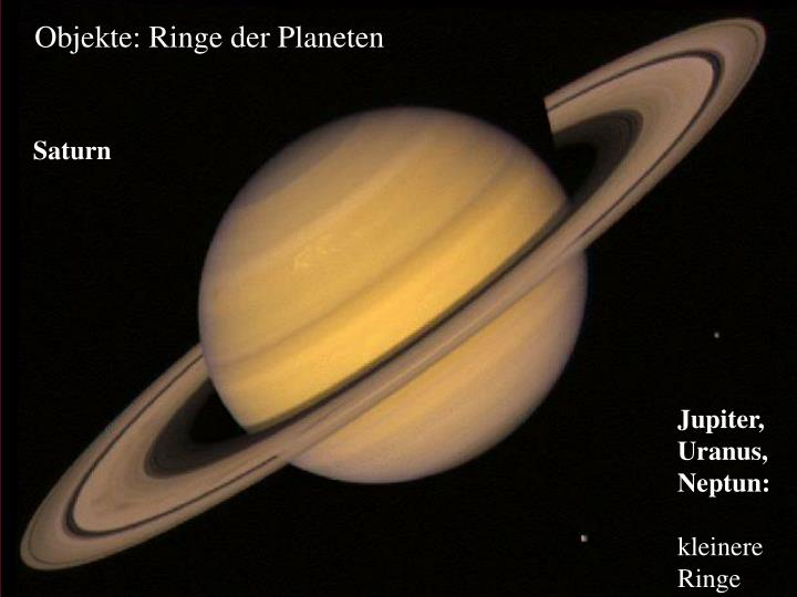 Objekte: Ringe der Planeten