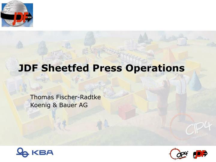 jdf sheetfed press operations n.