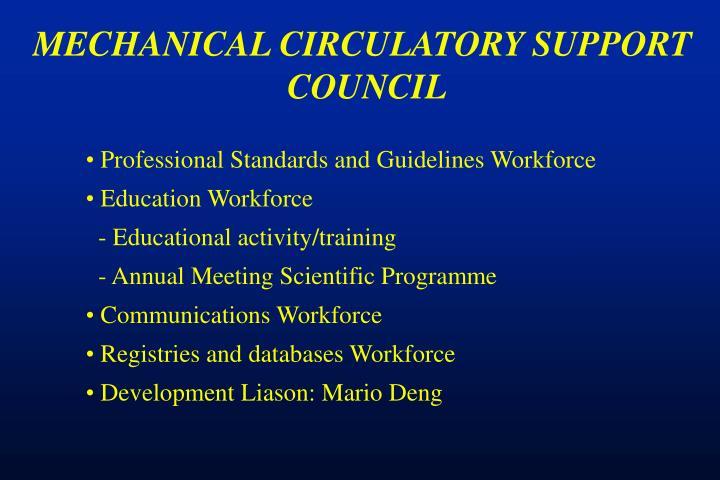 MECHANICAL CIRCULATORY SUPPORT