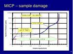 micp sample damage