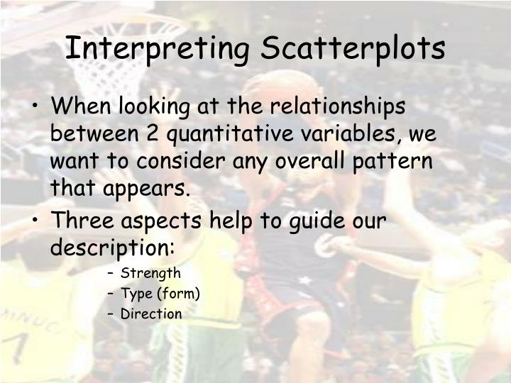 Interpreting Scatterplots
