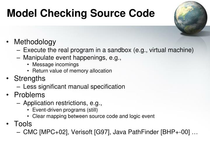 Model Checking Source Code