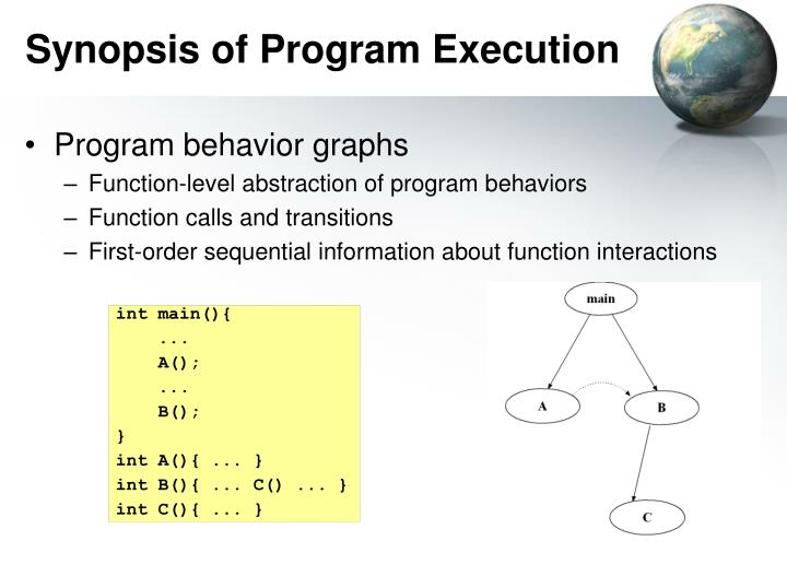Synopsis of Program Execution