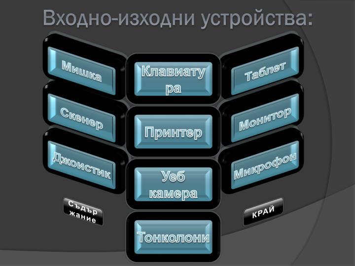 Входно-изходни устройства: