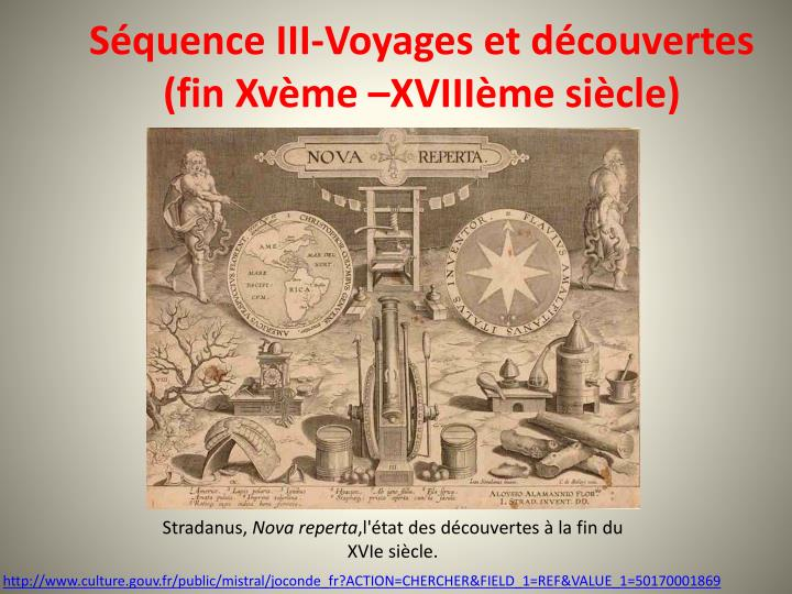 s quence iii voyages et d couvertes fin xv me xviii me si cle n.