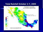 total rainfall october 2 7 2005