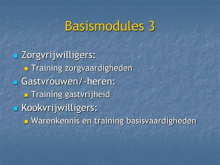 Basismodules 3