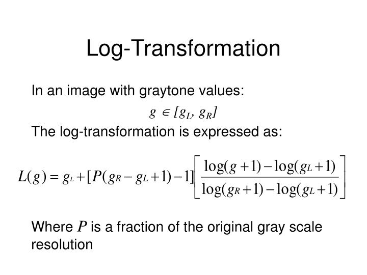 Log-Transformation