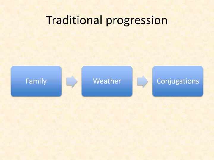 Traditional progression