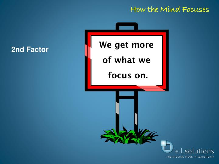 How the Mind Focuses
