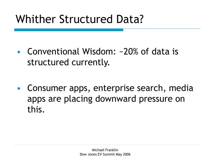 Whither Structured Data?