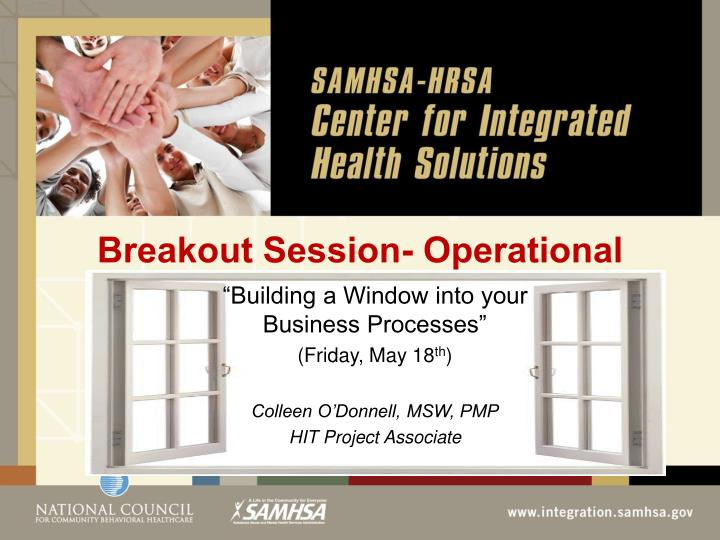 breakout session operational n.