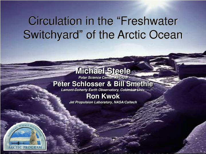 circulation in the freshwater switchyard of the arctic ocean n.
