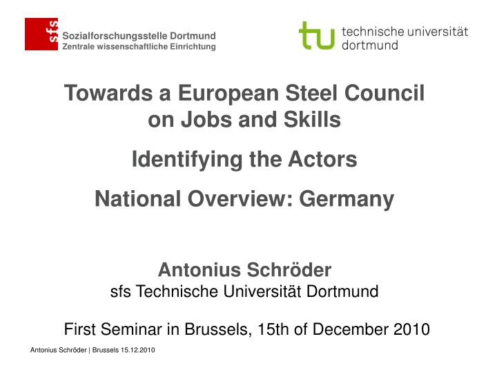 first seminar in brussels 15th of december 2010