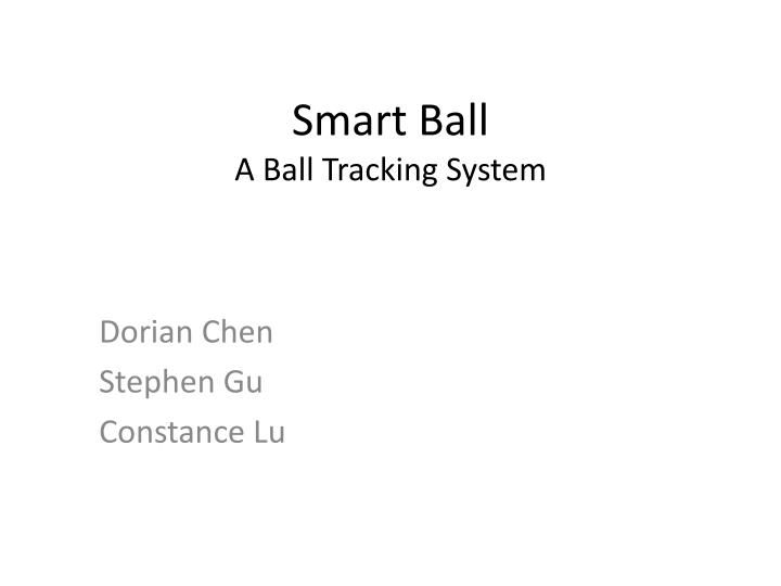 smart ball a ball tracking system n.