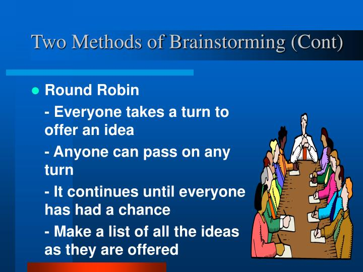 Two Methods of Brainstorming (Cont)