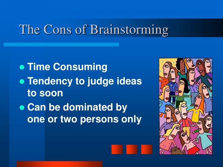 The Cons of Brainstorming