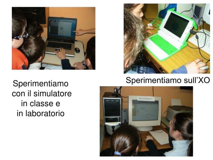 Sperimentiamo con il simulatore in classe e in laboratorio