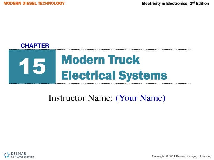 PPT Modern Truck Electrical Systems PowerPoint