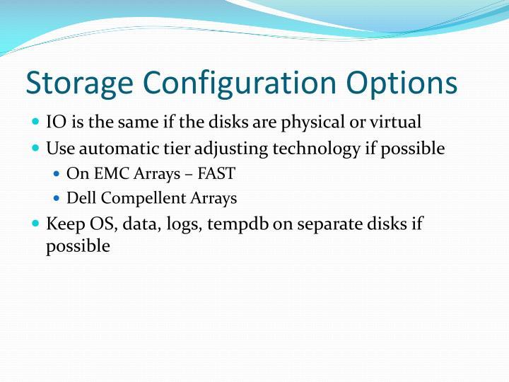 Storage Configuration