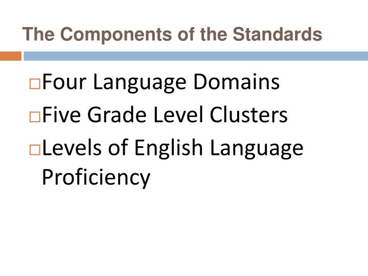 The Components of the Standards