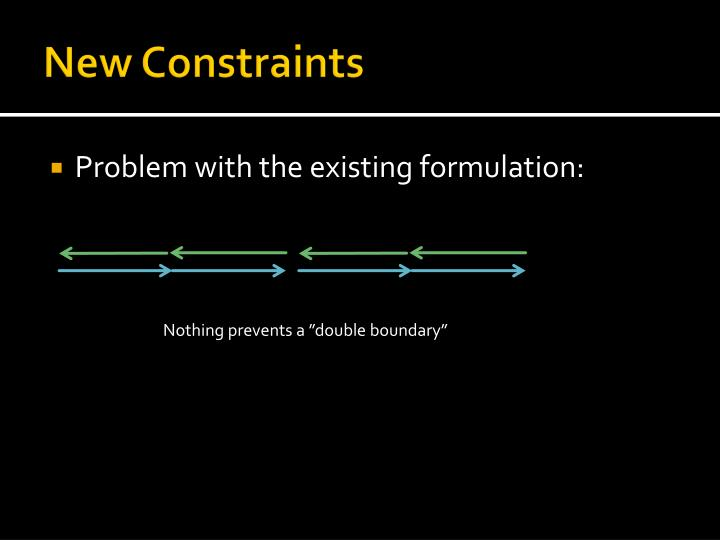 New Constraints