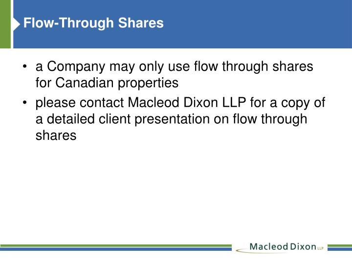 Flow-Through Shares
