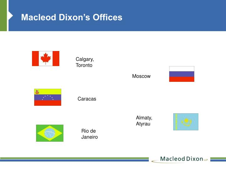 Macleod Dixon's Offices