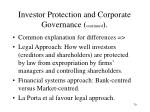 investor protection and corporate governance continued