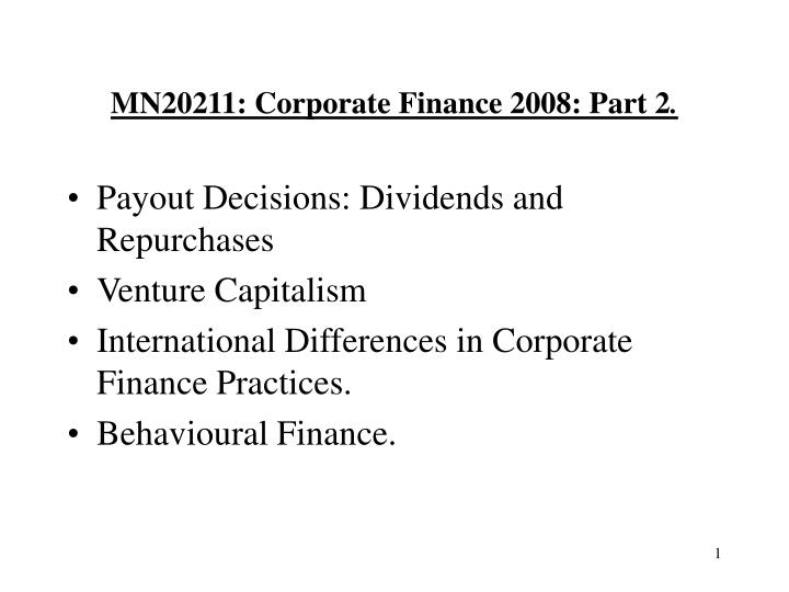 mn20211 corporate finance 2008 part 2 n.