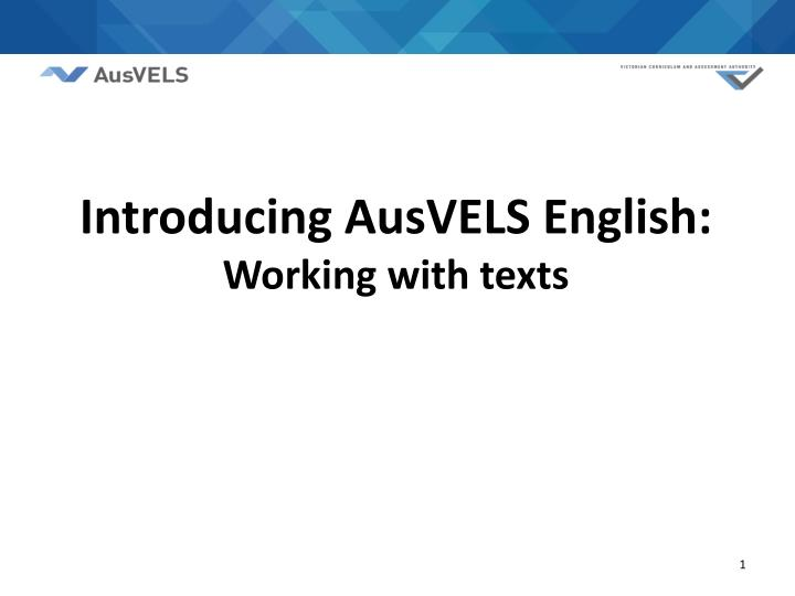 introducing ausvels english working with texts n.