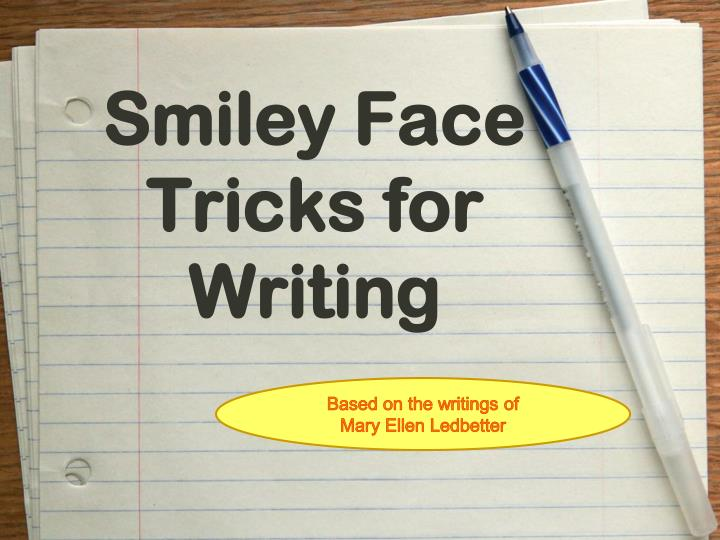 smiley face tricks for writing n.