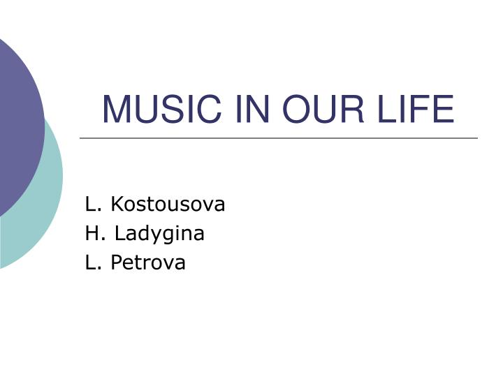 music in our life n.