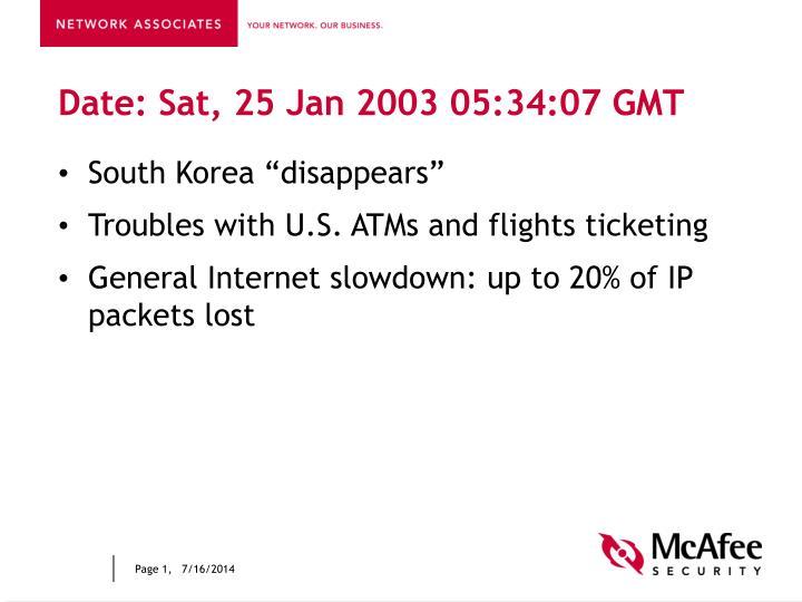 Date sat 25 jan 2003 05 34 07 gmt