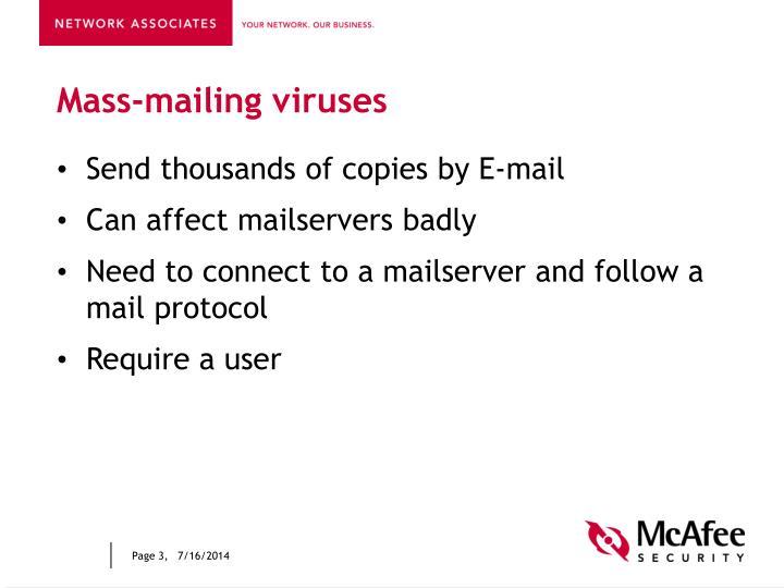 Mass-mailing viruses