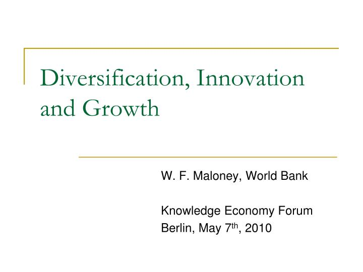 diversification innovation and growth n.