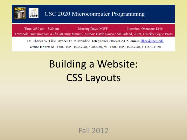 building a website css layouts n.