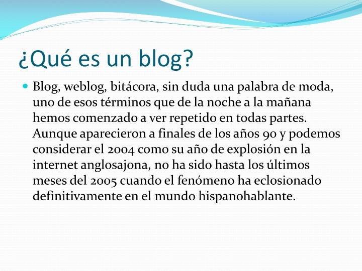 Qu es un blog