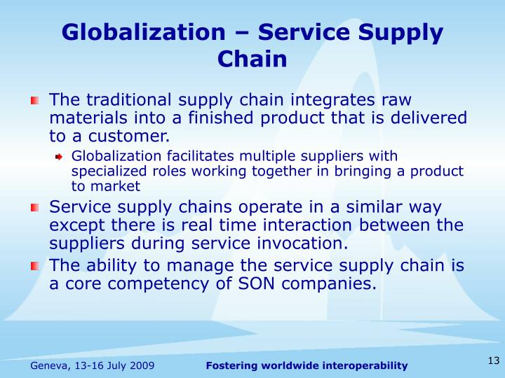 Globalization – Service Supply Chain