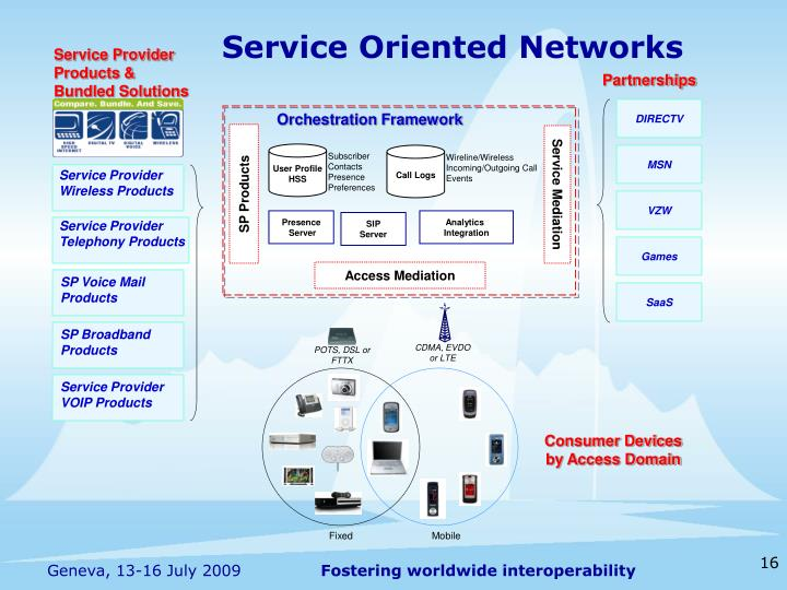 Service Oriented Networks