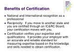 benefits of certification